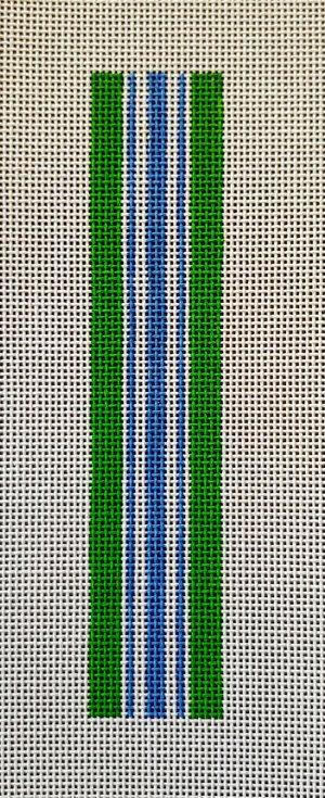 AF 61 Anne Fisher Key Fob - Green Stripe