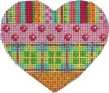 AT HE805 Stripes/Coin Dots/Plaid Heart