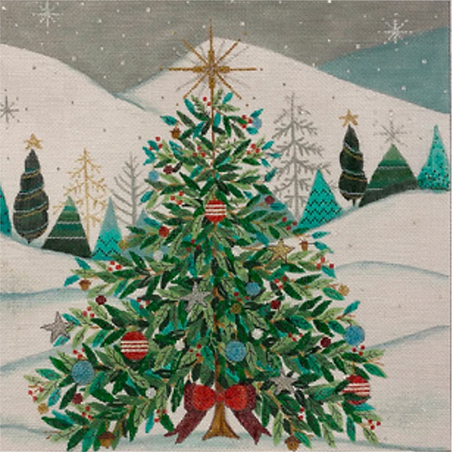 AP 4284 Christmas Tree with Red Bow