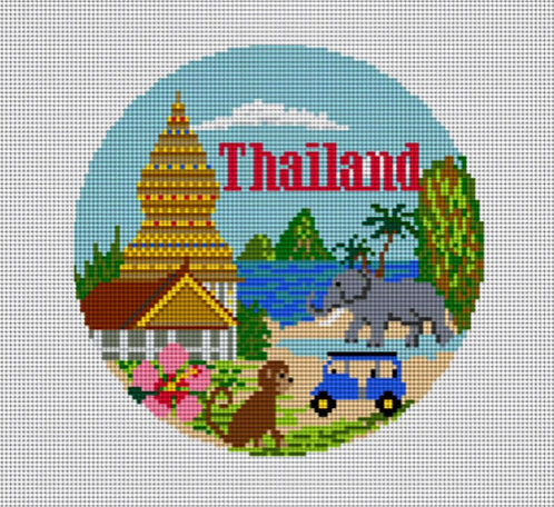 Needlepaint Handpainted Thailand Ornament