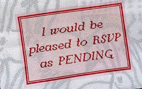 Catelavie I would be pleased to RSVP as PENDING (Schitt's Cre