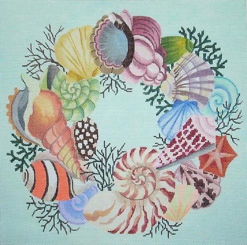 Marcy Covington Shell Wreath MC2256