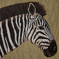 JP Needlepoint Zebra in Grass A-107