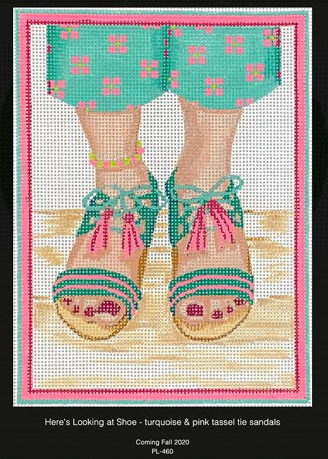 Kate Dickerson PL-460 Tassel Tie Sandals