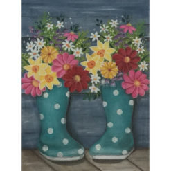 AP2758 Rainboots and Flowers