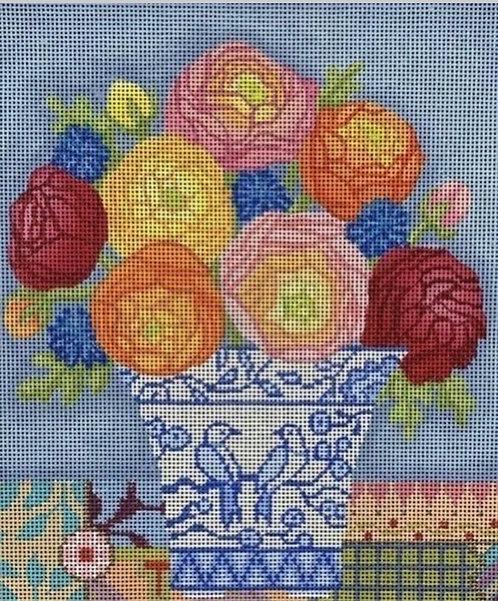 Brenda Stofft Colorful Flowers 18 mesh