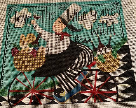 Lori Lynn Simms LLCK02 Love the Wine You're With