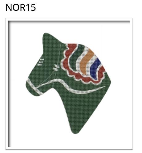 Pepperberry NOR15 Dala Horse, Green