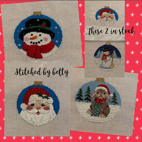 Betty is having a good time stitching these....