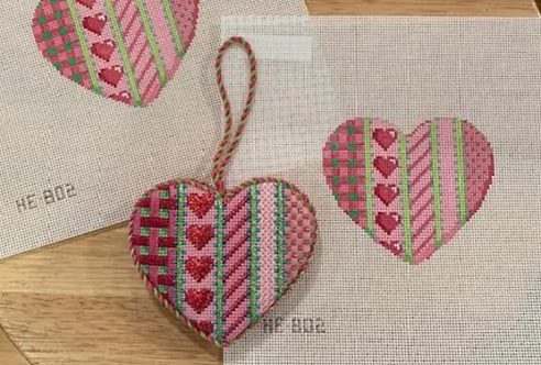 AT HE802 Vertical Pink Patterns  Heart