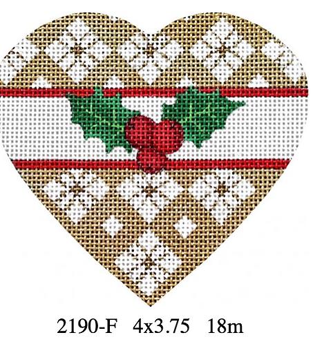 Melissa Shirley 2190 F Holly Heart -Flower