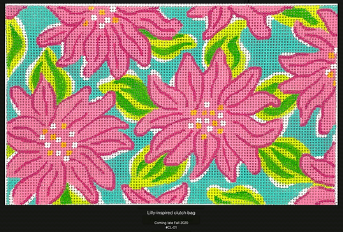 Kate Dickerson CL-01 Lilly inspired Clutch 13 mesh