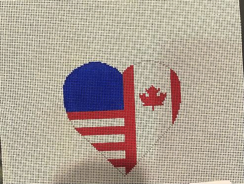 American/Canadian heart