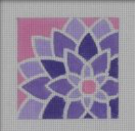 Pepperberry FL05 Purple/Pink Graphic Flower, Square