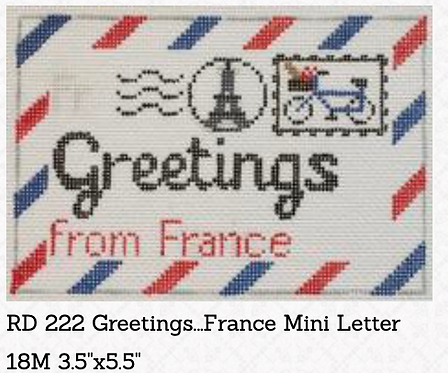 Rachel Donley Small Letter-  Greetings from France