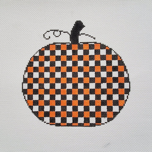 Silver Stitch Pumpkin, Large Black and Orange