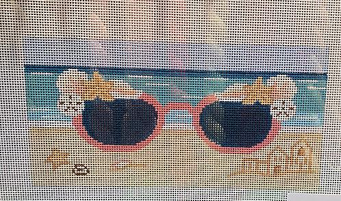 J Malahy Eyeglass Case at the Beach