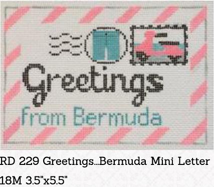 Rachel Donley Small Letter-  Greetings from Bermuda