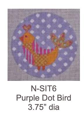 Eye Candy N-SIT6 Org. Bird on Purple