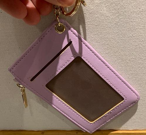 Light purple credit card case on chain