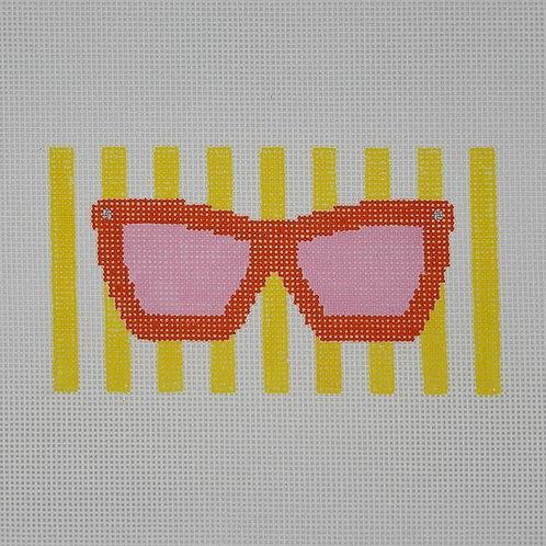 Silver Stitch Eyeglass Case