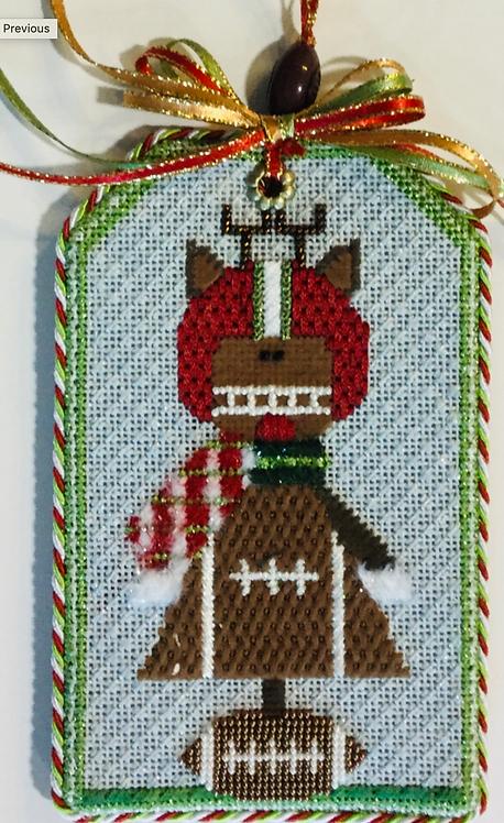 Sew Much Fun Football Reindeer