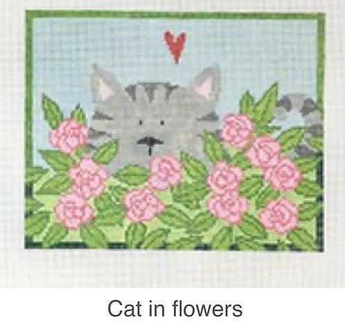 PET-046 Cat in Flowers