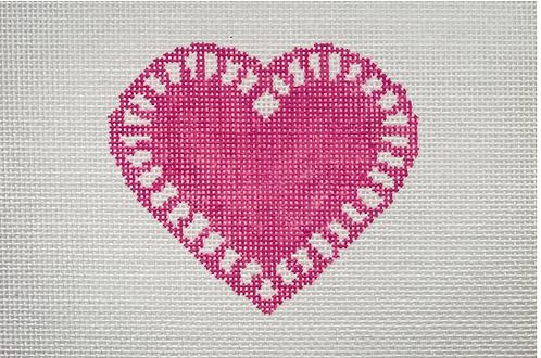 Mopsey Designs MD-10.02 Love Doily (Dark Pink)
