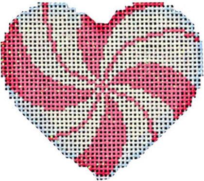 AT HE668P Peppermint Swirl Pink Mini Heart