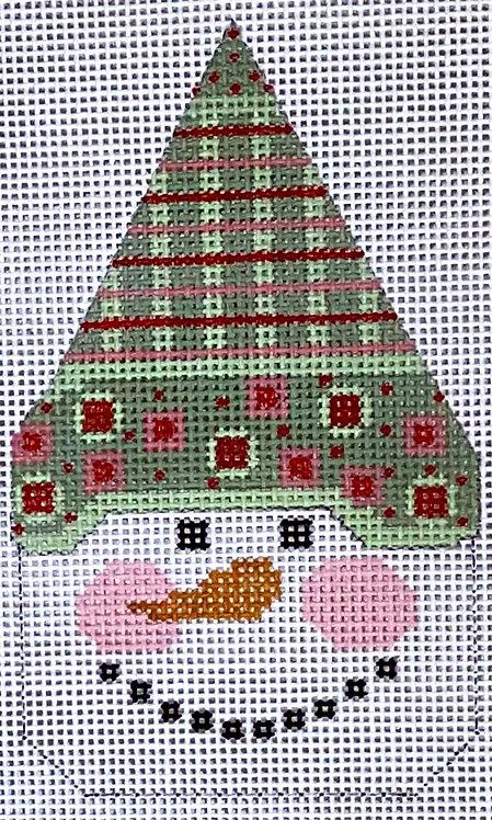 Danji Designs CH-503 Snowman Face Green/Pink Hat