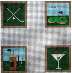 CO-40  Meredith Collection Golf Coasters