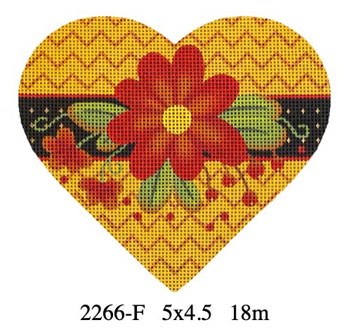 Melissa Shirley 2266-F Autumn Hearts - Red Daisy