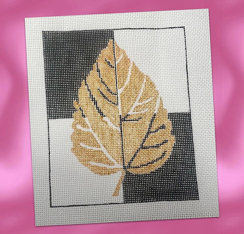 Judy Tasch Needlepoint Gold Leaf