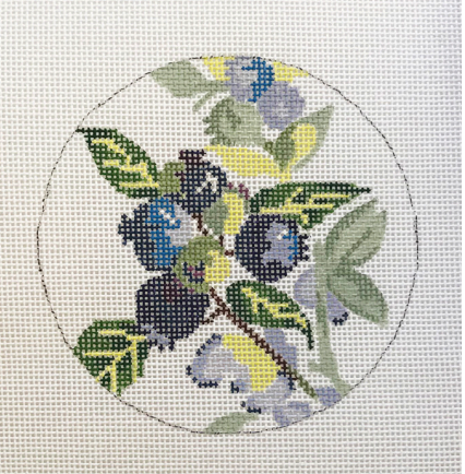 Blueberry Point Floral Round - Blueberries