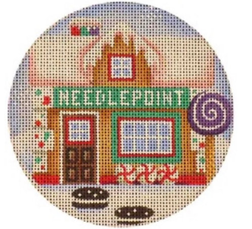 Rebecca Wood Needlepoint Gingerbread House