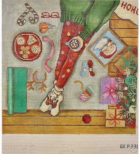 Gayla Elliott GEP 331 Happy Stitching Christmas Morning
