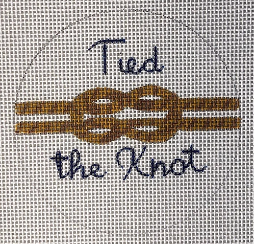 Oasis Needlepoint Tied the Knot Round MB10