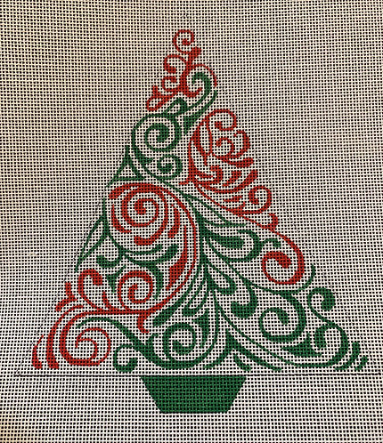 Heidi 110 Red and Green Triangle Tree