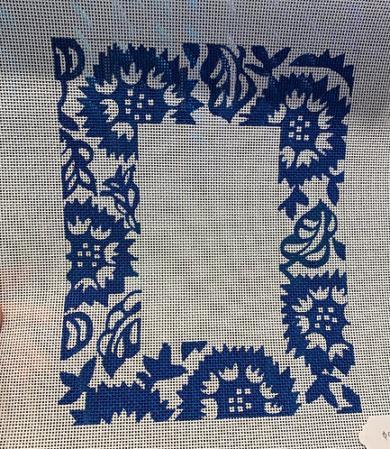 Patty Paints Blue and White Picture Frame 4x6 Insert