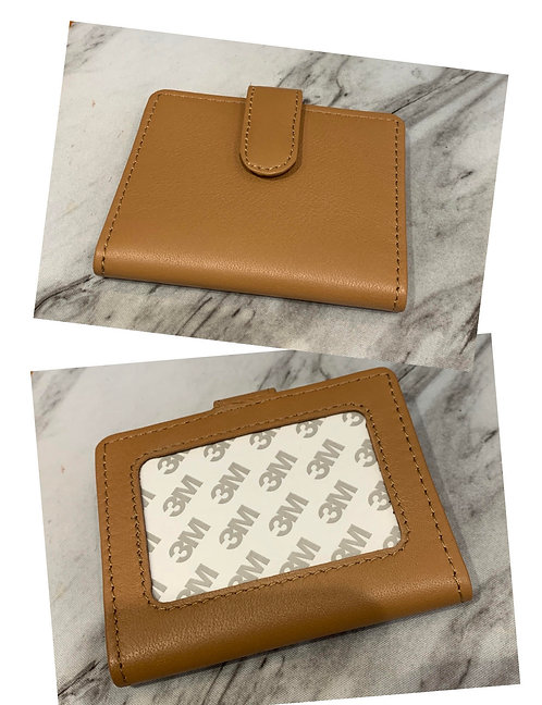 Brown Snap Wallet (Takes 2x3 Insert)