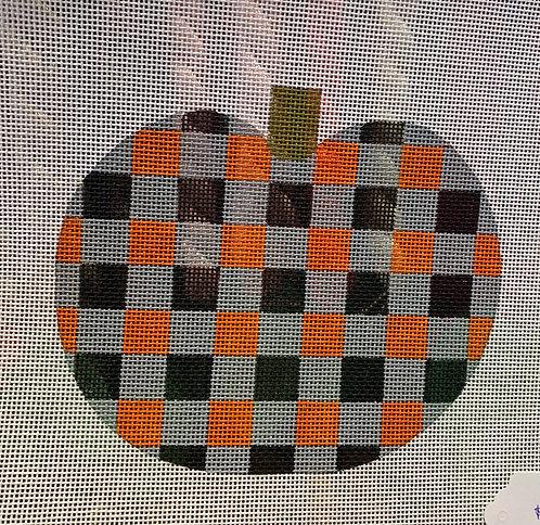 Patty Paints H40 Large Plaid Pumpkin 18 mesh