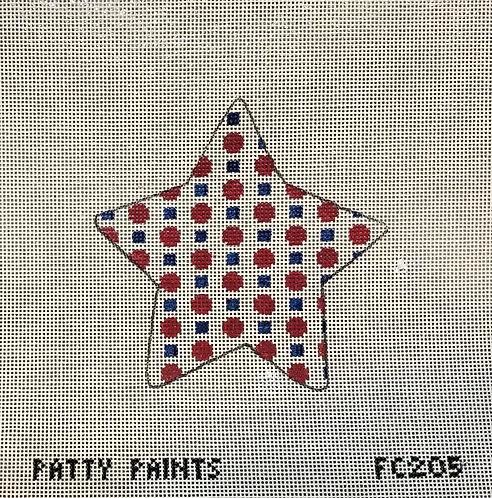 "Patty Paints FC205 American Dots Star 3.5"" 18 mesh"