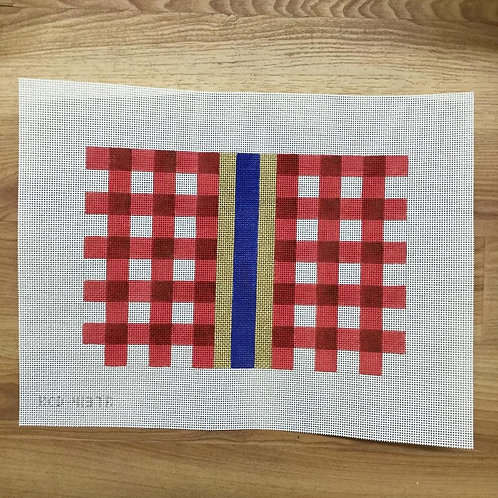 KCN Red Gingham Clutch