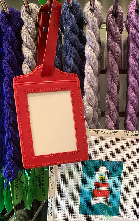 Red Luggage tag and insert