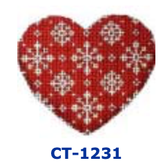 AT CT-1231 Snowflakes/Red  Heart