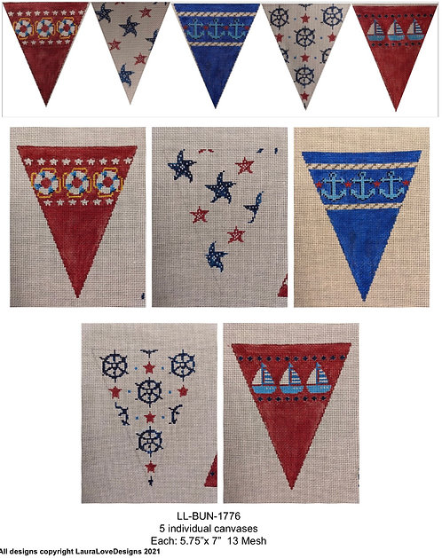 Nautical Banner by LauraLove Stitches