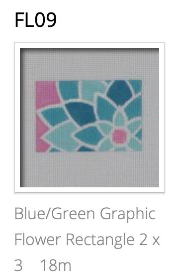 Pepperberry FL09 Blue/Green Graphic 2x3 Insert
