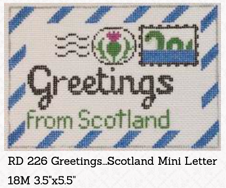 Rachel Donley Small Letter-  Greetings from Scotland