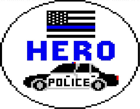 Needlepoint by Laura Hero - Police