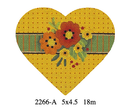 Melissa Shirley 2266-A Autumn Hearts - Rusty Floral